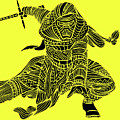 Kylo Ren - Star Wars Art - Yellow by Studio Grafiikka