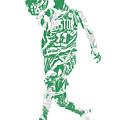 Kyrie Irving Boston Celtics Pixel Art 43 by Joe Hamilton