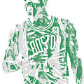 Kyrie Irving Boston Celtics Pixel Art 7 by Joe Hamilton