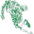 Kyrie Irving Boston Celtics Pixel Art 9 by Joe Hamilton