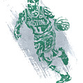 Kyrie Irving Boston Celtics Water Color Art 2 by Joe Hamilton