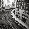 L Train In Chicago by James Udall