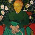 La Berceuse. Woman Rocking A Cradle. Augustine-alix Pellicot Roulin by Vincent van Gogh