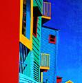 La Boca Street Scene Twelve by JoeRay Kelley