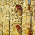 La Cathedrale De Rouen Le Portail Et La Tour Saint-ro Claude Oscar Monet by Eloisa Mannion