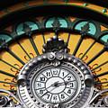 La Concordia Railway Station Clock Detail Bilbao by James Brunker