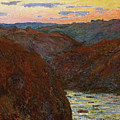 La Creuse, Sunset by Claude Monet