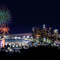La Dodger Fireworks by Larry Gibson