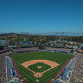 La Dodgers Stadium Baseball 2087 by David Haskett II
