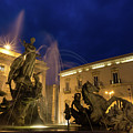 La Fontana Di Diana - Syracuse Sicily Romantic Blue Hour by Georgia Mizuleva