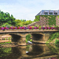 La Gacilly, River Aff, Brittany, France by Curt Rush