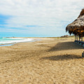 La Loberia Beach View In Salinas, Ecuador  by Marek Poplawski
