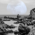 La Luna Over Cala Canyet by Wolfgang Stocker
