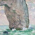 La Manneporte A Etretat by Claude Monet