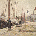 La Maria At Honfleur by Georges Pierre Seurat