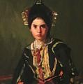 La Montera Segovia Girl In Fiesta Costume 1912 by Henri Robert
