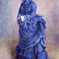 La Parisienne The Blue Lady  by Pierre Auguste Renoir