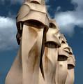 La Pedrera By Gaudi In Barcelona Spain by Gregory Dyer