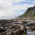 La Piedra Shore Malibu Dusk by Kyle Hanson