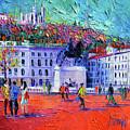 La Place Bellecour A Lyon by Mona Edulesco