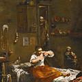 La Pulce Or The Flea Hunt by Giuseppe Maria Crespi