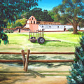 La Purisima With Fence by Angie Hamlin
