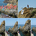 La Quebrada Cliff Divers Collage Poster by Tatiana Travelways