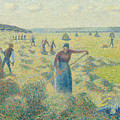 The Harvesting Of Hay Eragny  by Camille Pissarro