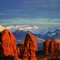 La Sal Mountains In Arches Np Utah by Bret Webster
