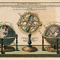 La Sphere Artificielle - Illustration Of The Globe - Celestial And Terrestrial Globes - Astrolabe by Studio Grafiikka