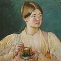 La Tasse De  by Mary Cassatt