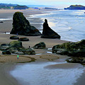 Labyrinths At Bandon Beach by Michele Avanti