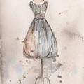 Lace Champagne Dress by Lauren Maurer