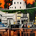Laconner Waterfront Art Panel by Bob Patterson