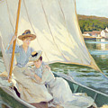 Ladies In A Sailing Boat  by Jules Cayron