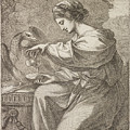 Lady And Eagle by Angelica Kauffmann