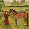 Lady And Horse by Jean Blackmer