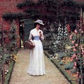 Lady In A Garden Edmund Leighton 1893 by Movie Poster Prints