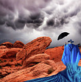 Lady In Blue Nevada by Bob Christopher