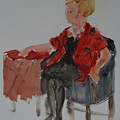 Lady In Chair by Charme Curtin