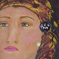 Lady In Head Scarf  by Shelley Jones