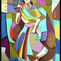 Lady In Mosaic by Rehan Khan
