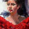Lady In Red by Merle Keller