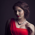 Lady In Red by Peter Lakomy