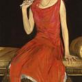 Lady In Red - Mrs Owen Barton Jones by Sir John Lavery