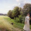 Lady In White Reading  by Emilie Caroline Mundt