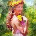 Lady Of The Dandelions by Peter Kupcik
