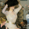 Lady Trying On A Hat by Frank Weston Benson