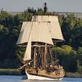 Lady Washington Sailing On Columbia River by Charles Robinson