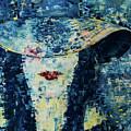 Lady Wears A Hat In Blue by Ovadia Keidar
